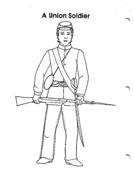 Union Flag and Soldier Coloring page