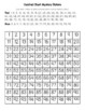 Union Jack Flag (United Kingdom, Great Britain) Hundred Chart Mystery Picture