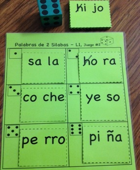 Union de Silabas (Dice Game) Lista 1
