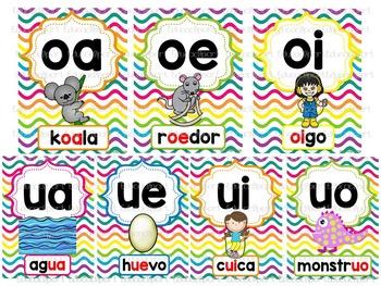 Uniones Vocálicas - Posters multicolor