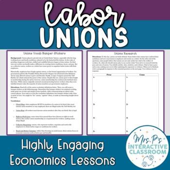 Unions Bumper Stickers Economics Lesson!
