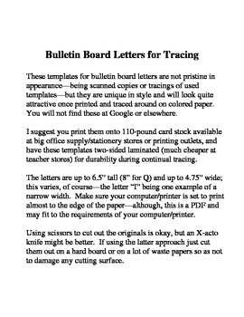 Unique Bulletin Board Letters for Tracing--Part Two
