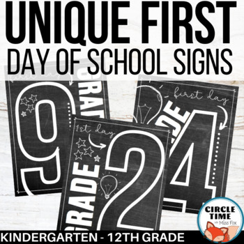 photo about Free Printable First Day of Kindergarten Sign identified as Exceptional Chalkboard Very first Working day Symptoms, Printable Initially Working day of University Indicator 2019-20