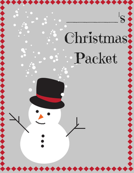 Unique Christmas Printable Packet for 4th, 5th, 6th grade!