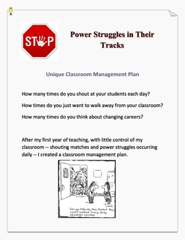 Unique Classroom Management Plan