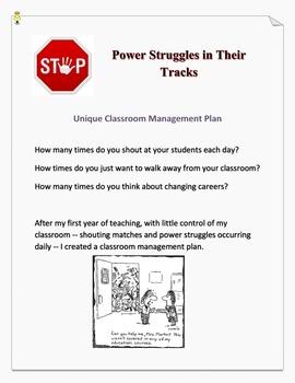 Unique Classroom Management Plan