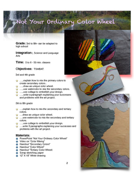 Unique Color Wheel - Visual Arts Lesson - 1st - 8th Grade