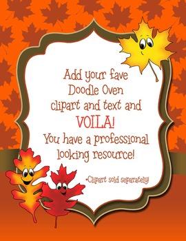 Autumn Leaf Digital Papers