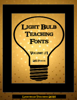 25 Unique Fonts by Lightbulb Teaching (Personal Use) Volume 1