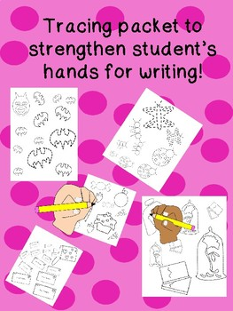 Unique HAND STRENGTH tracing packet for HANDWRITING prek12345