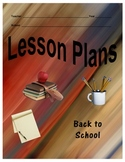 Unique Insertable Lesson Plan Covers for Three Ring Binders  Set C