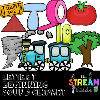 Unique Letter T Sound Clipart {Alphabet, Letter Sounds, Beginning Letter}