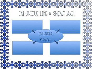 Unique Like a Snowflake Brainstorm Web and Writing Prompt