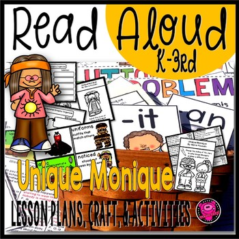 Read Aloud Books Activities for Problem and Solution Unique Monique