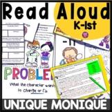 Problem and Solutions: Read Aloud Book Activities for Unique Monique