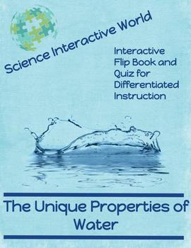 Unique Properties of Water Interactive Flip Book and Quiz