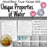 [Remote Friendly] WS: Modified True False for Water's Uniq