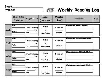 Unique Reading Log