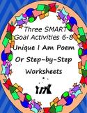 Unique SMART Goal Activity I Am Poem for Back to School