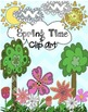 Hand Drawn Spring Time Doodle  Clip Art Commercial Use