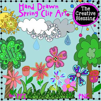 Spring Time Doodle Clip Art