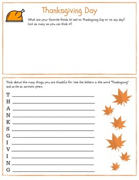 Unique Thanksgiving Packet for grades 4-5! Poetry, activities and more!