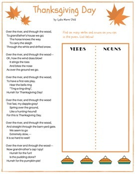 Unique Thanksgiving Packet for grades 4-5! Poetry, activit