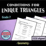 Unique Triangles Worksheet