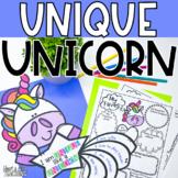 Unique Unicorn self-esteem activity