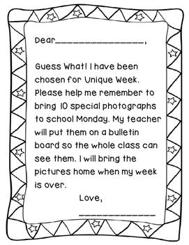 Unique Week Letter Home