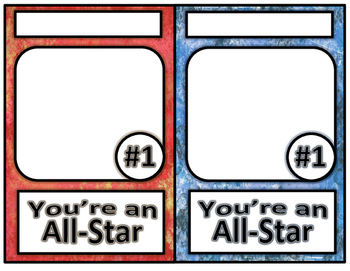 Unique Writing Template-Folded Card and Sports Trading Cards Project