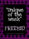 Unique of the Week Freebie