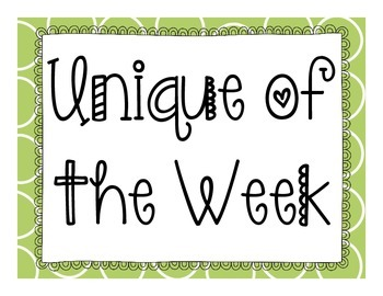 Unique of the week (student of the week) with background