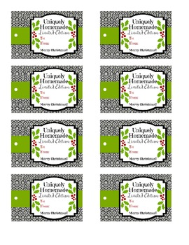Uniquely Handmade Christmas Gift Tags