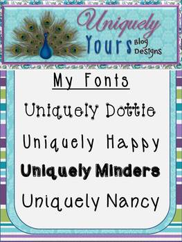 Uniquely Yours Fonts