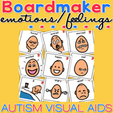 Unisex Emotion Feelings Cards Boardmaker Visual Aids for Autism SPED