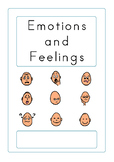 Unisex Emotions and Feelings Book - Boardmaker Visual Aids for Autism SPED