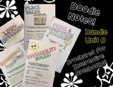 BUNDLE Unit:Review Skills - Math Doodle Notes Brochures for Interactive NBs
