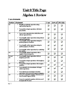 Unit 0 Guided Notes (ALG 2) - Solving Equations (All Types) and Inequalities