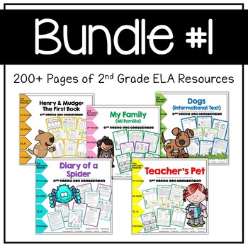 Bundle #1 NO PREP CCSS ELA Printables for 2nd Grade