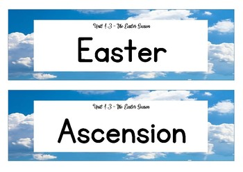 Unit 1.3 - The Easter Season