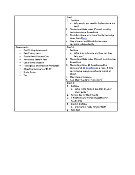 Unit 1 8th Grade ELA Basics