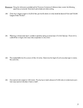 Unit 1 Activity 4 - English/Metric Conversion (Exotic Units)