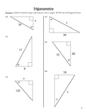Unit 1 Activity 8 - Basic Trigonometry (Sine/Cosine/Tangent)