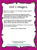 Unit 1 All You Need to Teach Integers Math Foldable Book