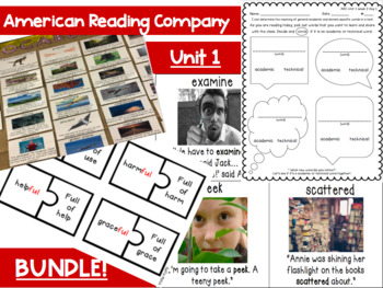 Unit 1 American Reading Company Supporting Materials