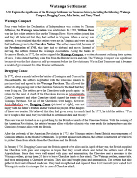 Unit 1 Article Bundle - TN before Statehood - 5th grade TN Social Studies