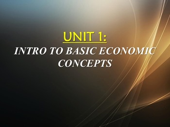 Unit 1: Basic Economic Concepts and PPF Lecture (AP)