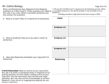 Unit 1 Binder: Introduction to Life and Cells