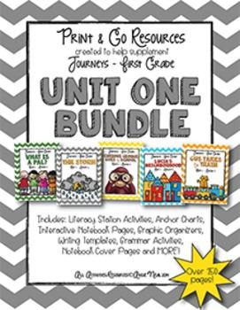 Unit 1 Bundle Journeys First Grade Print and Go